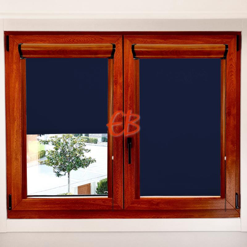Enrollable marco ventana opaco Azul Marino 06