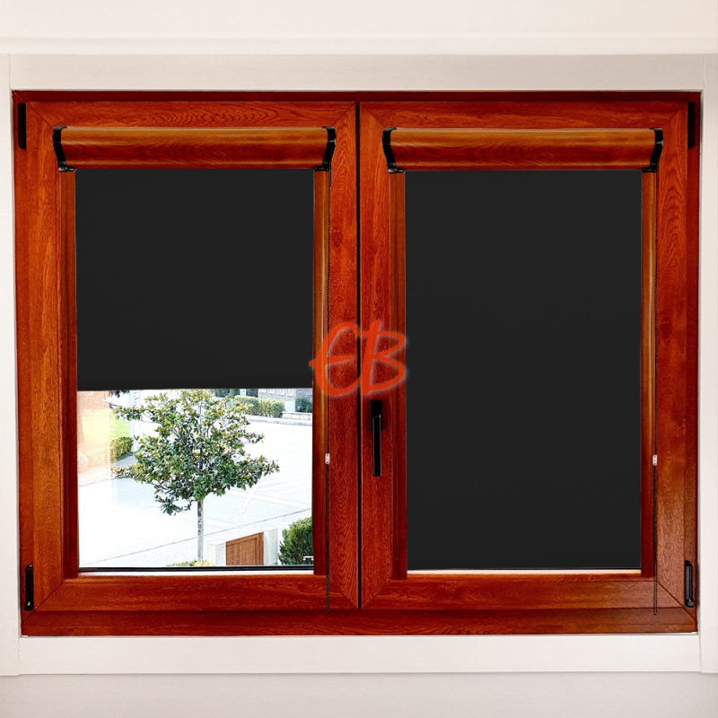 Enrollable marco ventana opaco Negro 13