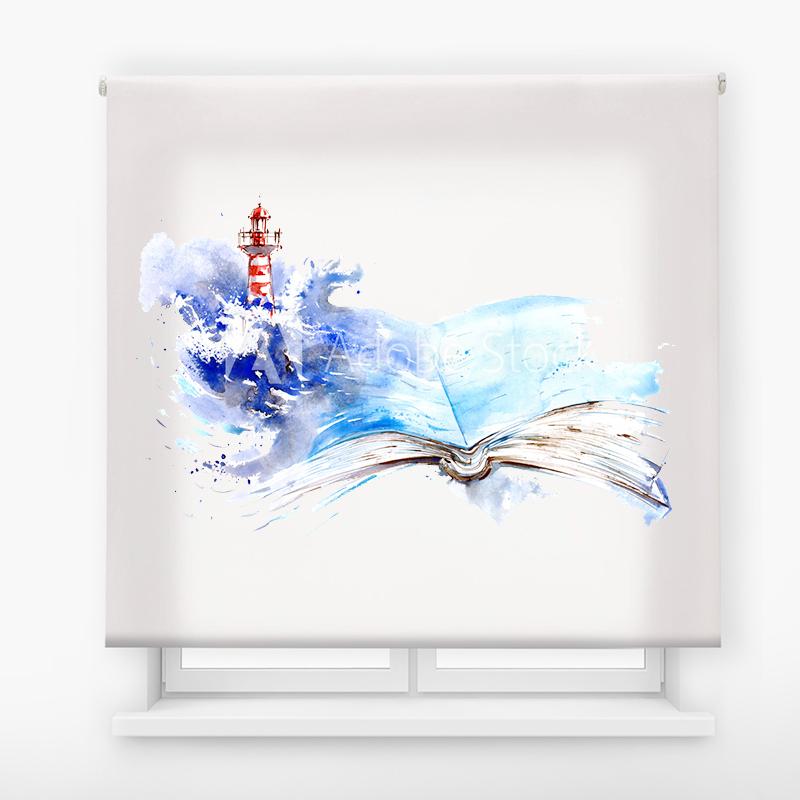 Estor Enrollable Impresión Digital Faros en pintura 1