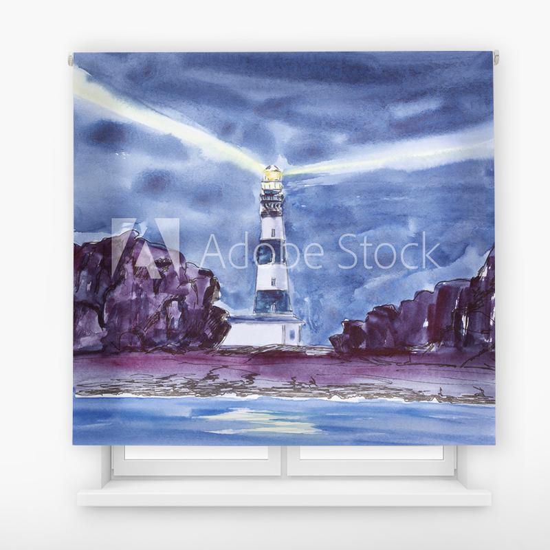 Estor Enrollable Impresión Digital Faros en pintura 11