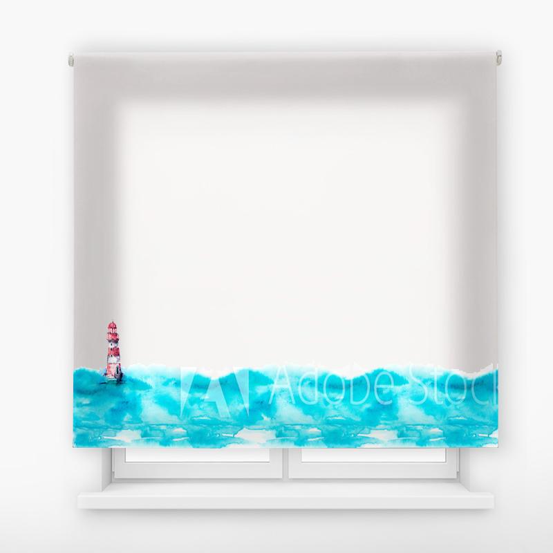 Estor Enrollable Impresión Digital Faros en pintura 13
