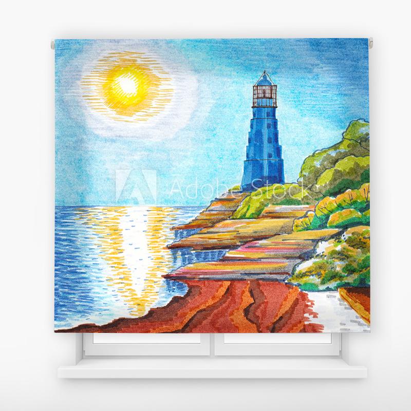 Estor Enrollable Impresión Digital Faros en pintura 14