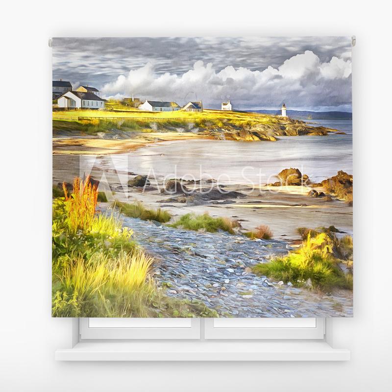 Estor Enrollable Impresión Digital Faros en pintura 16