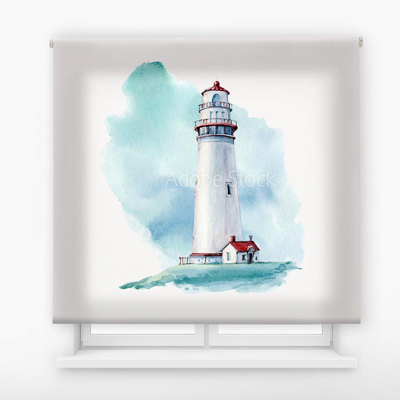 Estor Enrollable Impresión Digital Faros en pintura 3