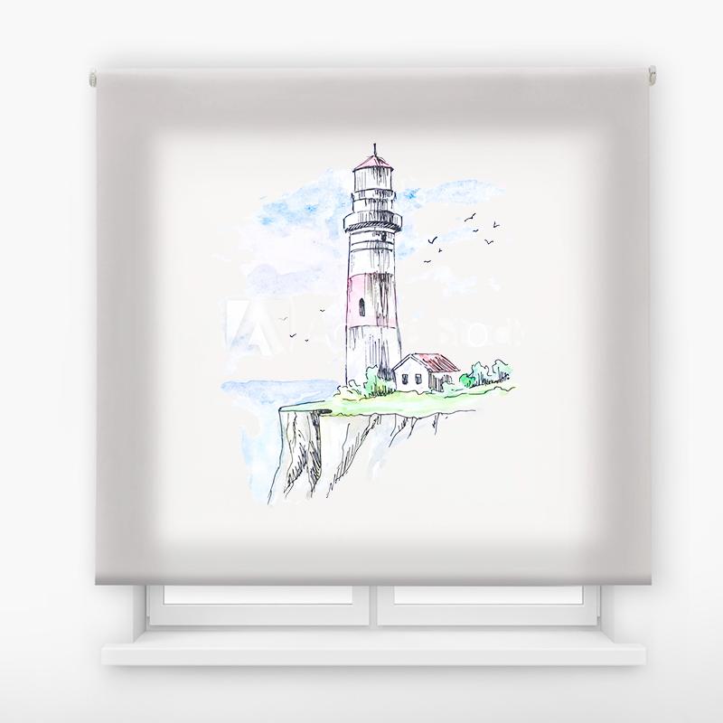 Estor Enrollable Impresión Digital Faros en pintura 4