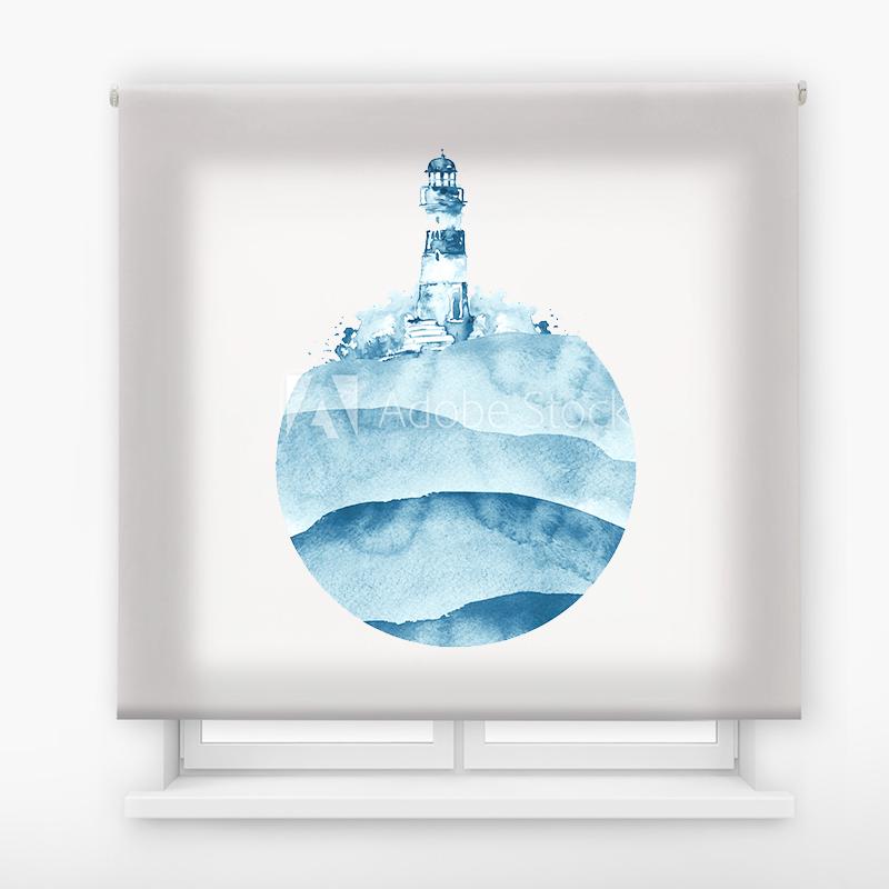 Estor Enrollable Impresión Digital Faros en pintura 5