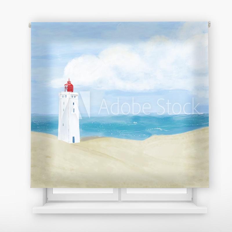 Estor Enrollable Impresión Digital Faros en pintura 6