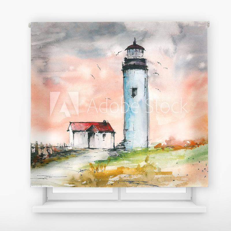 Estor Enrollable Impresión Digital Faros en pintura 8