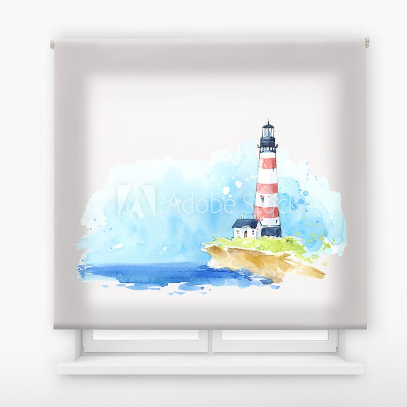 Estor Enrollable Impresión Digital Faros en pintura 9