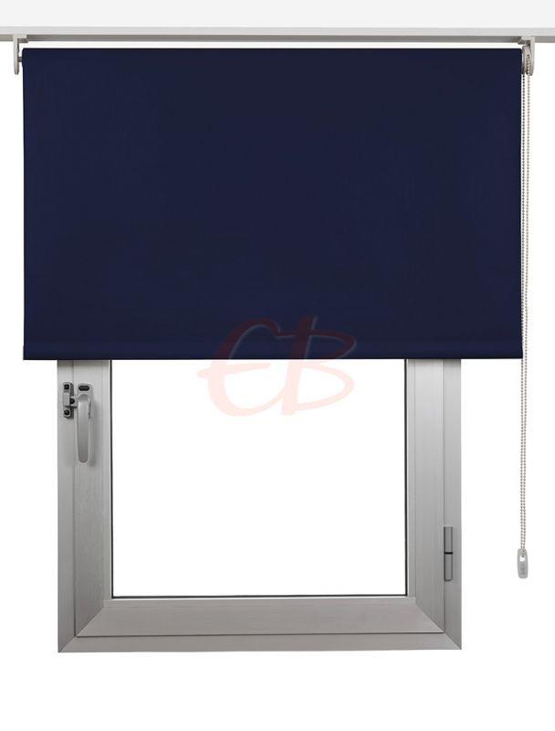 Estor enrollables Opaco Fibra de Vidrio Azul marino DK 06