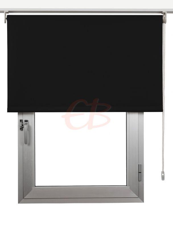 Estor enrollables Opaco Fibra de Vidrio Negro DK 13