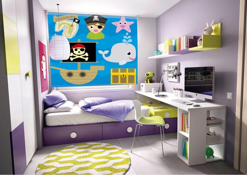 Estor enrollable infantil piratas cortina decorativa para ni os - Estores para habitaciones ...
