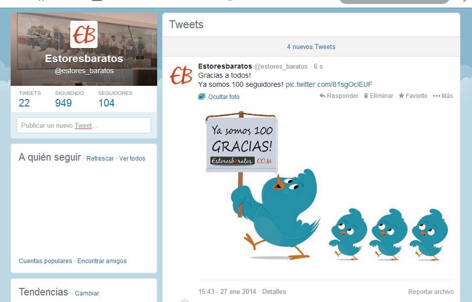 100 seguidores twitter