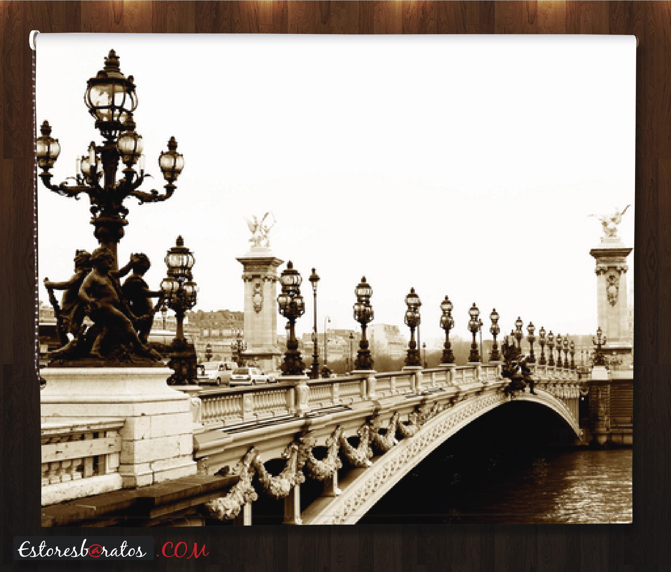Estor fotográfico puente sepia