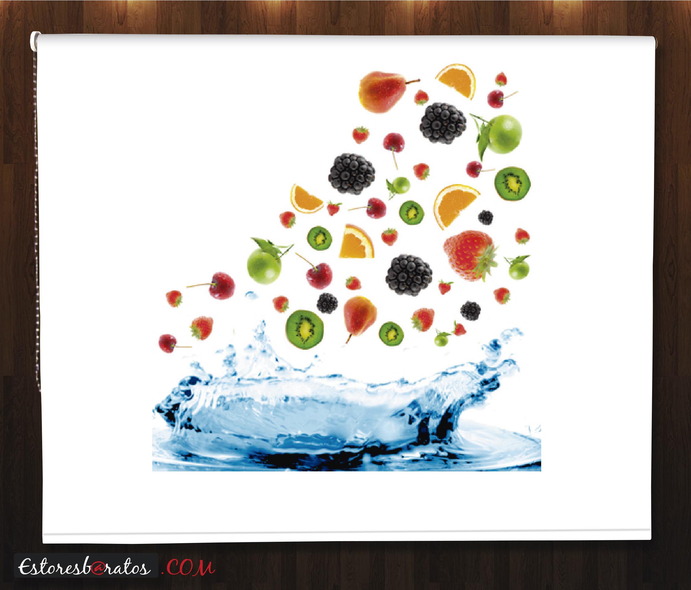 Estor fotográfico frutas agua