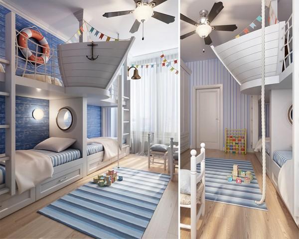 habitacion infantil barco