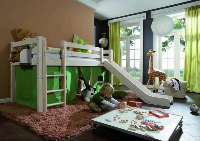 habitacion infantil tobogan