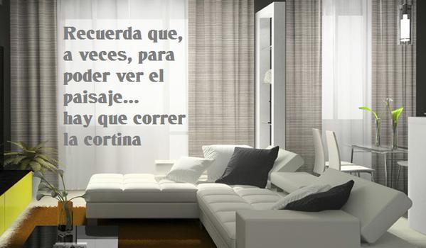 cortina mensaje