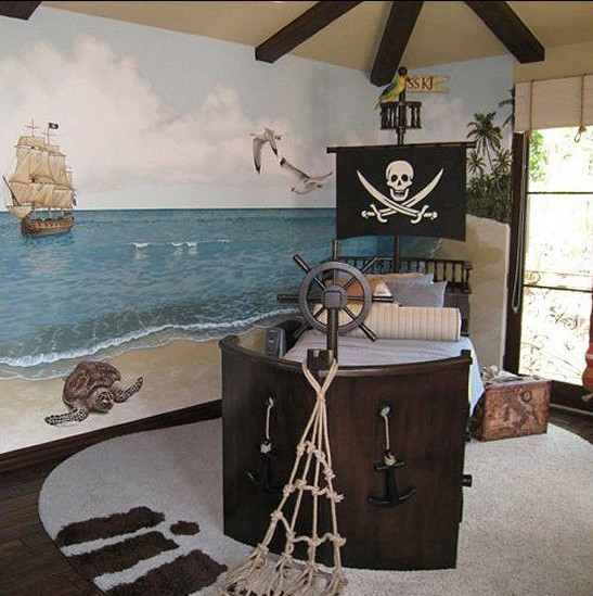 barco pirata cama