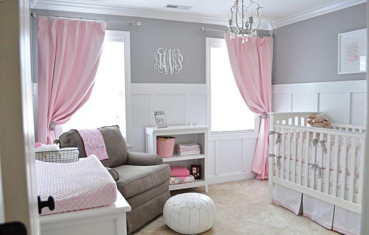 habitación bebé romántica