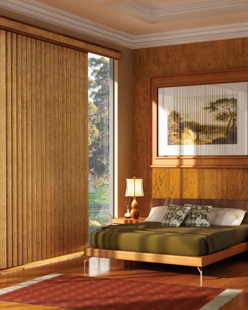 cortinas verticales habitacion