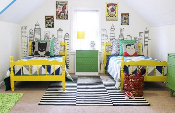 habitaciones infantiles superhéroes