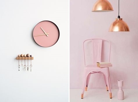 rosa y cobre