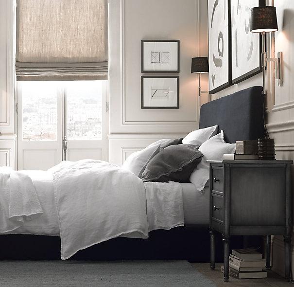 cortinas de lino gris
