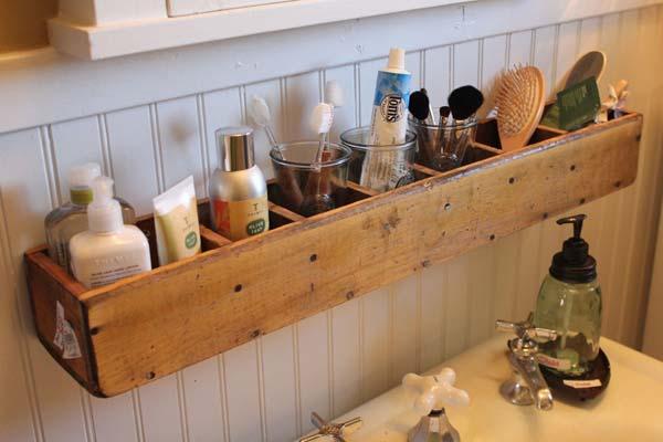 organizador casero lavabo