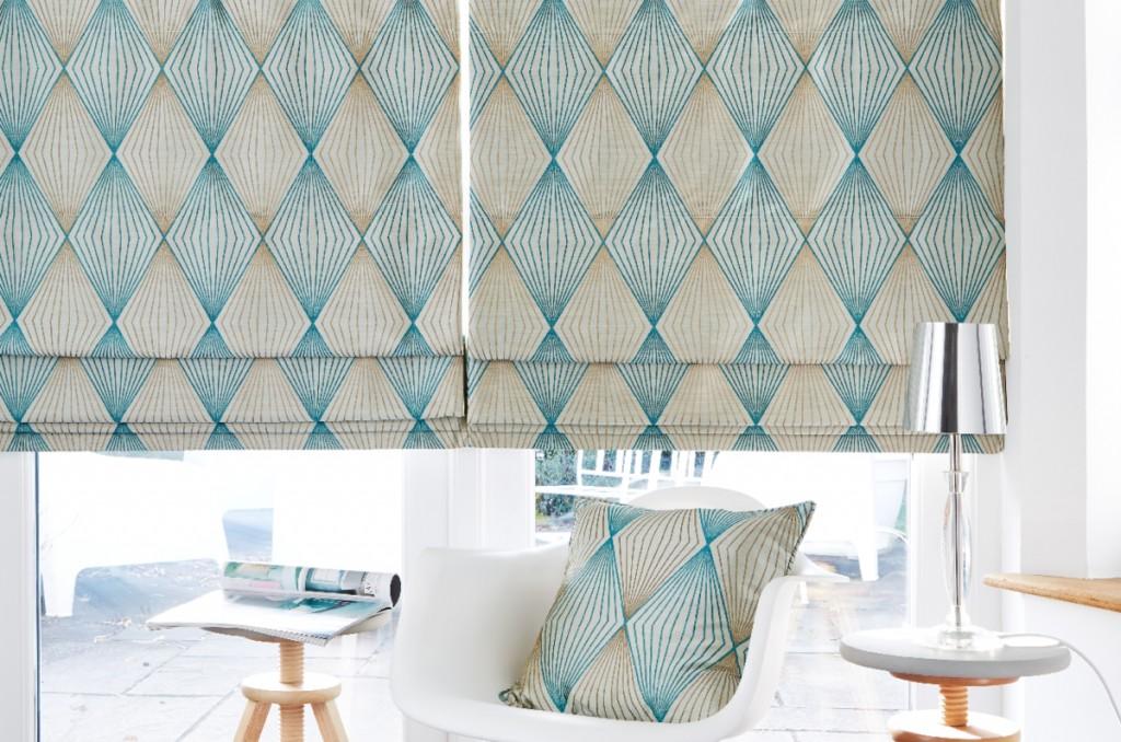 cortinas estampadas salon