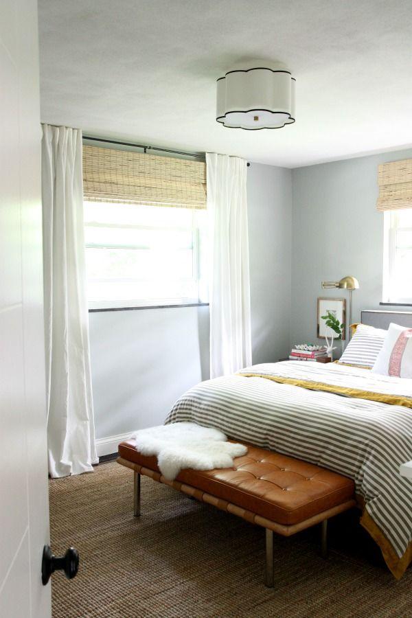 estores bambú con cortinas