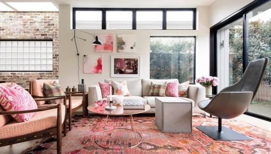 decoracion rosa empolvado