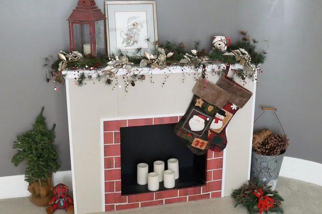 chimenea navideña diy