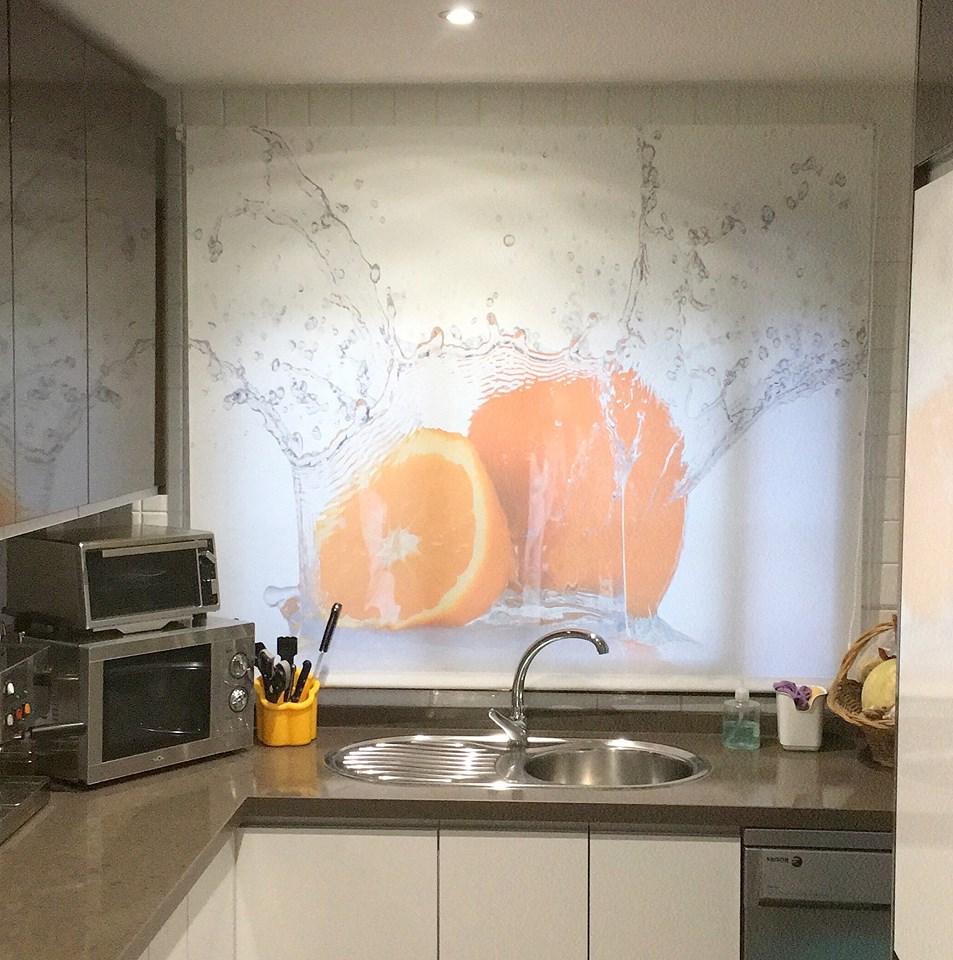 estores enrollables de cocina personalizados frutas