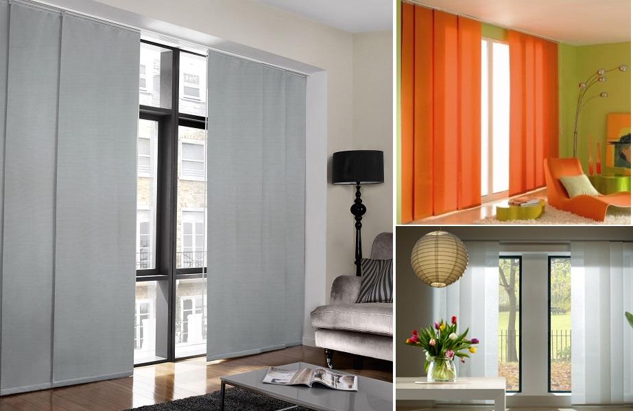 Decora tu casa con cortinas de paneles japoneses - Modelos cortinas salon ...