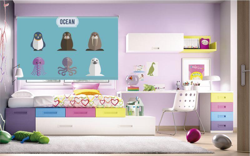 cortinas para niños
