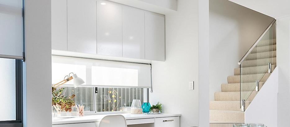 cortinas blancas cocina
