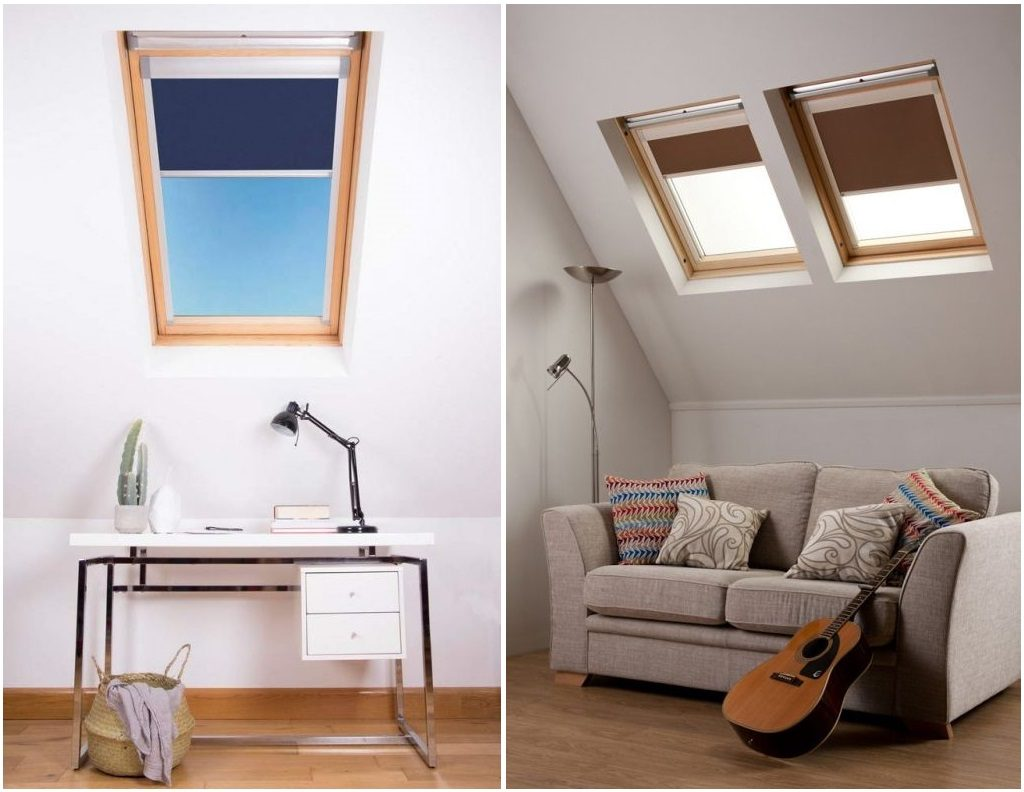cortinas plisadas tejado