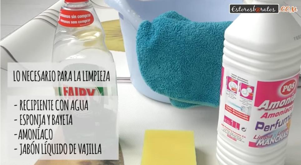 cómo limpiar un estor