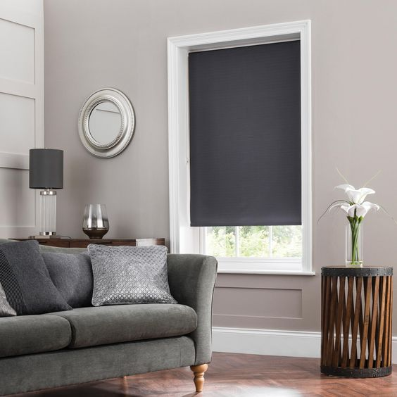 Blackout Roller Shade - Blackout Roller Shades provide an elevated level of light control and are available in stylish patterns and colors. Color: La Costa Sandbar CJ2009