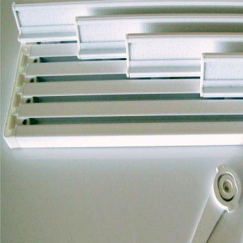 Mecanismos rieles para estores y cortinas enrollables baratos - Riel panel japones ikea ...