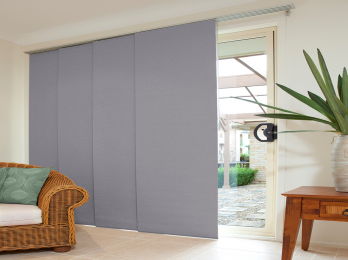 Panel Japonés opaco fibra de vidrio Tela + Riel