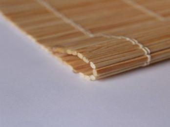 Persiana de esterilla de madera