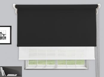 Estores Enrollables Dobles Opaco Fibra de vidrio-Eco Screen 5%