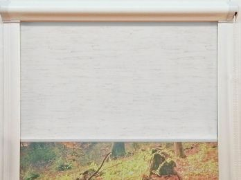 Enrollable minibox traslucido lino