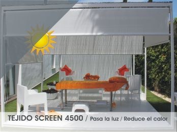 Toldo Vertical  Premium Screen 4500 guiado a cable