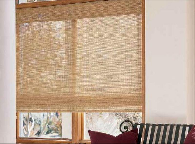 Cortinas de madera enrollables free estores de bamb para - Persianas enrollables de madera ...