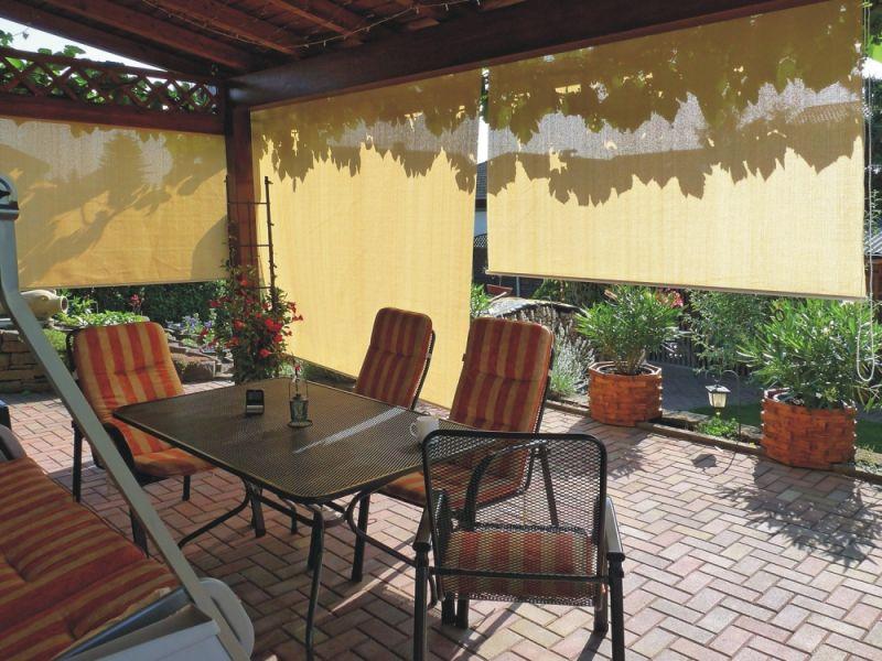 Persiana enrollable exteriores toldo barato para terrazas for Toldos madera para terrazas