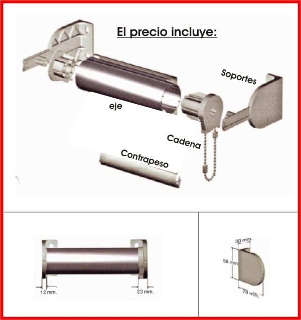 Mecanismo kit completo enrollable - Estoresbaratos com ...