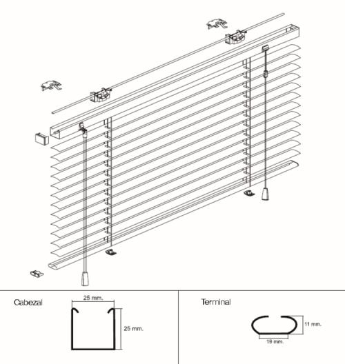 Venecianas de aluminio estores baratos - Persianas venecianas verticales ...